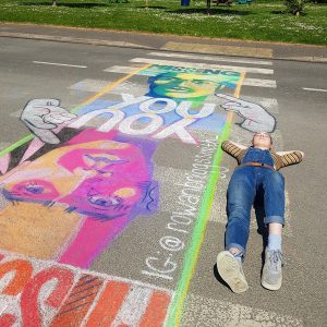 Pavement to art to communicate feelings during school closures