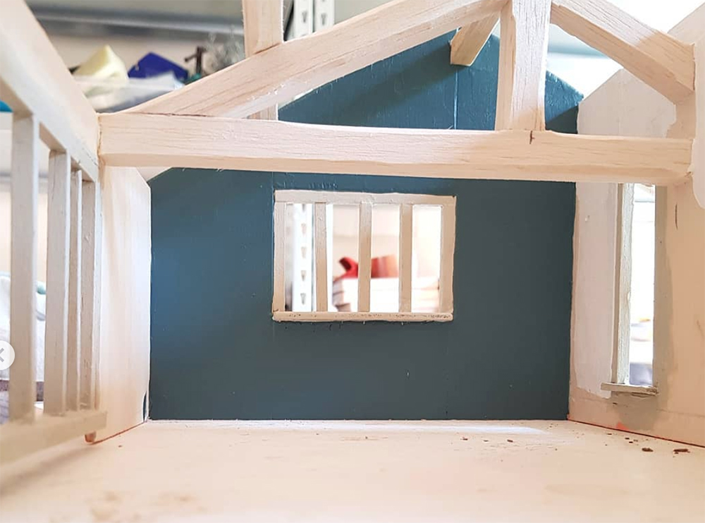windows and interior walls