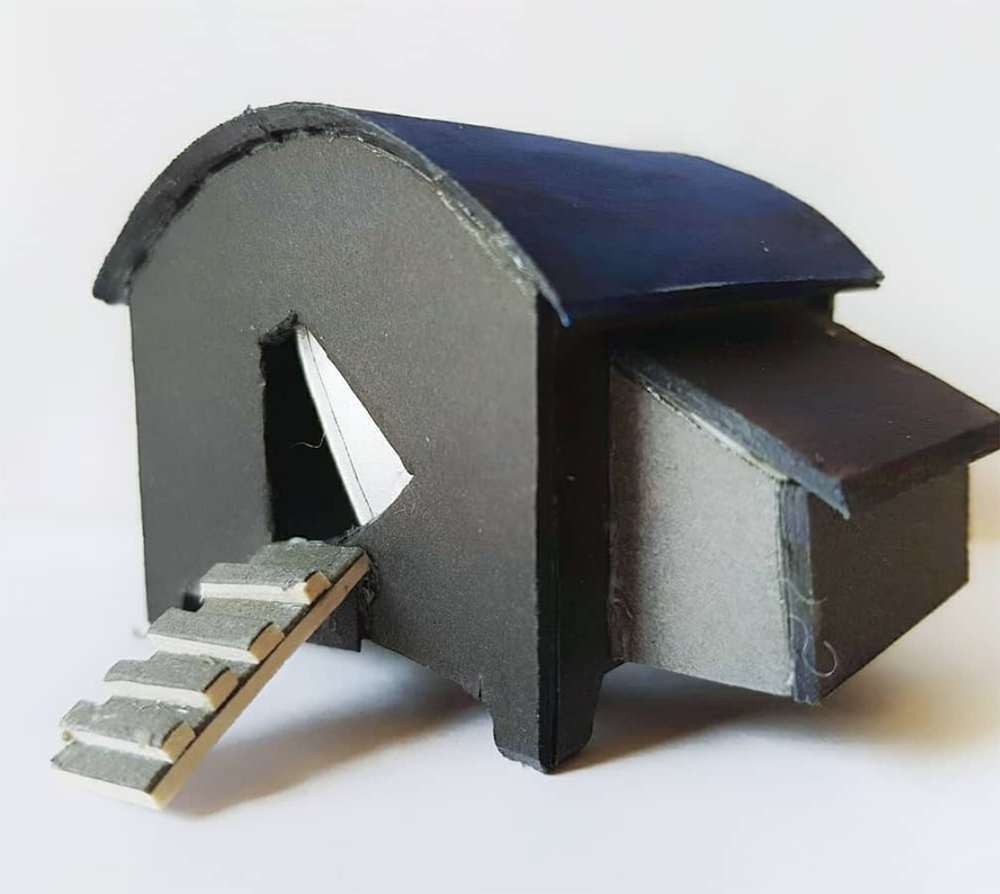 Scaled down hen house (5cm)