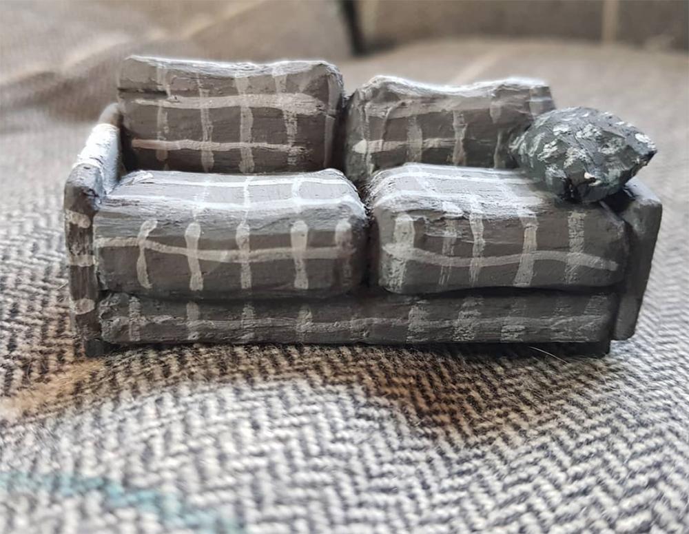 Sofa: Balsa wood, 5cm