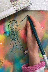 drawing an astronaut
