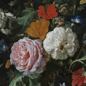 Detail from Flowers in a Glass Vase, by Jan Davidsz. de Heem (c) The Fitzwilliam Museum