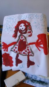 Grammy Yolanda (in USA) by Nila aged 5 in Rome (Italy)