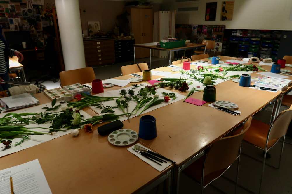 Flowers at the Fitzwilliam Museum - de Heem Colour workshop