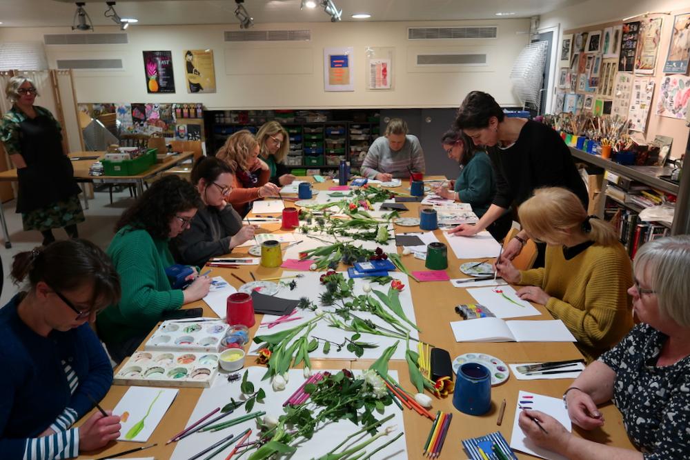 Painting workshop at the Fitzwilliam Museum Cambridge - de Heem