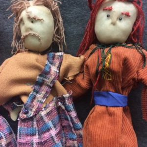 Using Macbeth as inspiration, how to make simple puppets using old pop socks and fabrics.