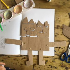 Making a cardboard robot with movable joints
