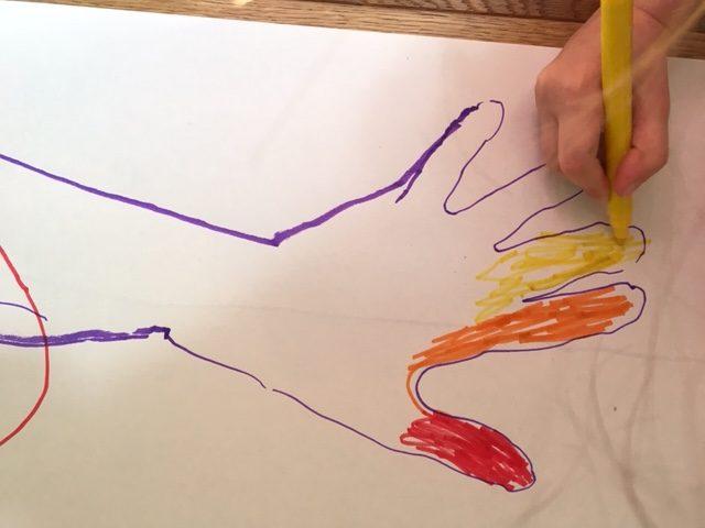 creating a rainbow hand