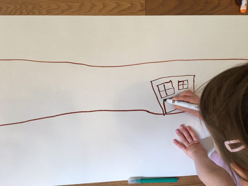 drawing the first house on the street