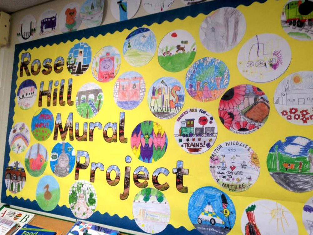 a local school display of participant's designs