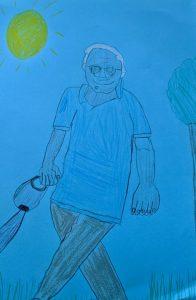 Grandpa walking the dog #NonnaMariaChallenge