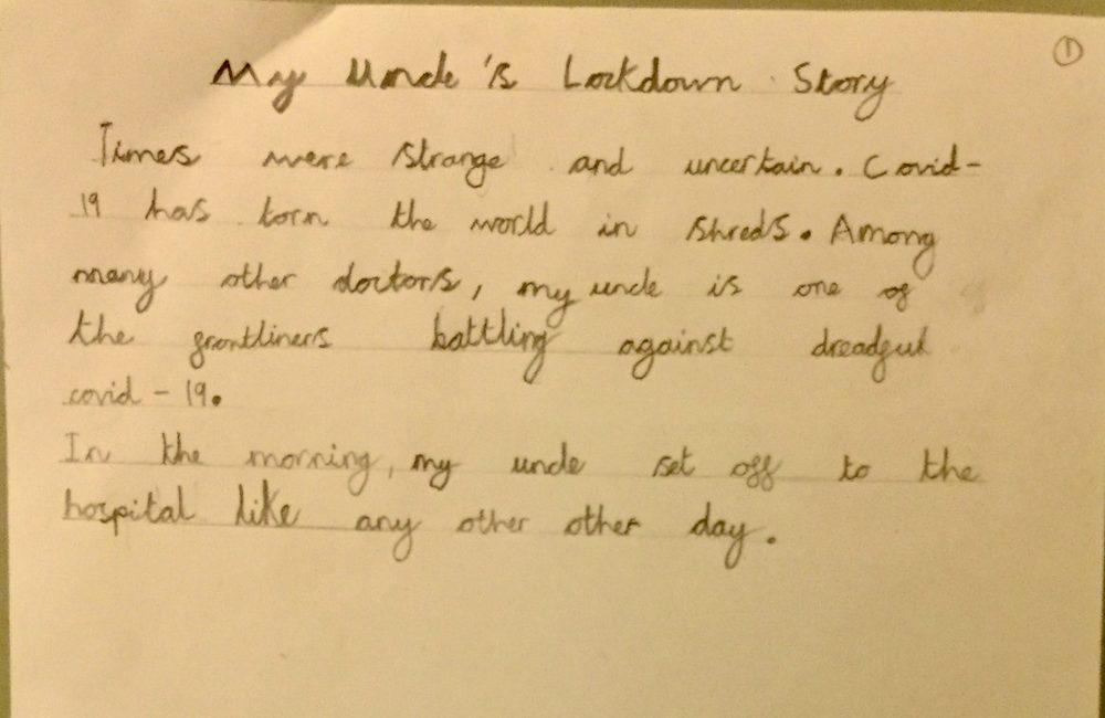 My Uncle's Lockdown Story by Azlan Atif ,2 B