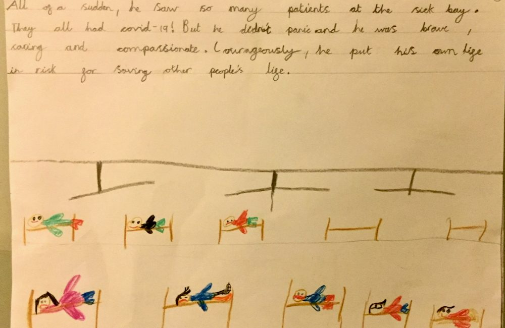 Page 4 Azlan Atif, in Year 2 Shares his Uncle's Lockdown Story for the Nonna Maria Challenge