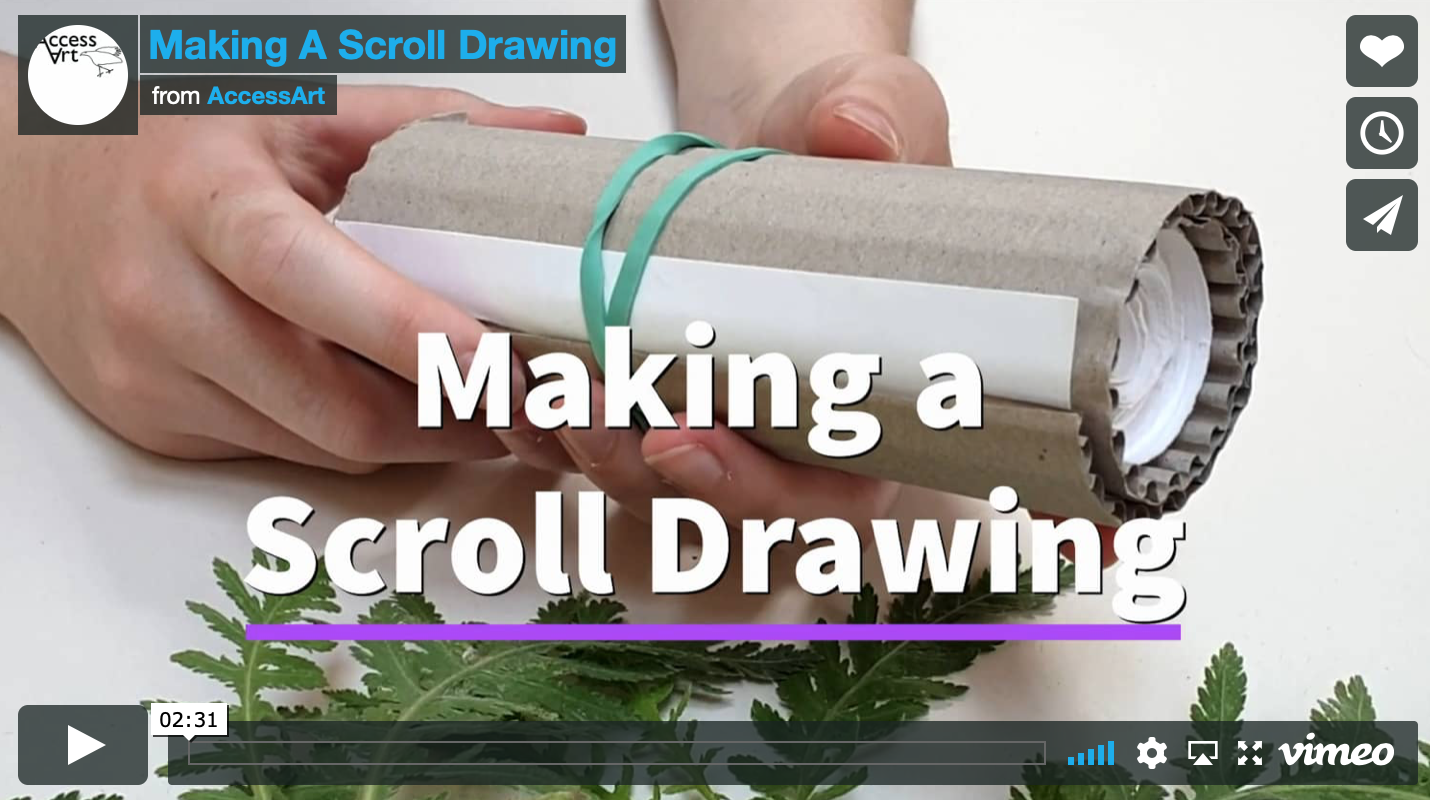 Making a Scroll Drawing Trailer
