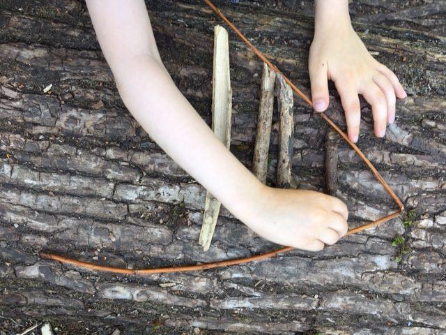 arranging sticks into size order