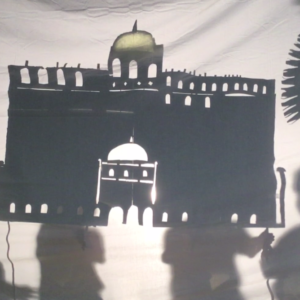 Middle Eastern Architecture is the focus here for making stunning shadow puppets and creating a performance.