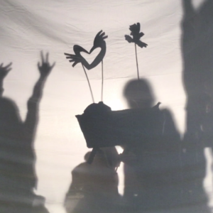 Making shadow puppets inspired by Middle Eastern architecture