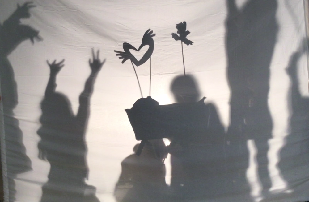 three puppeteers