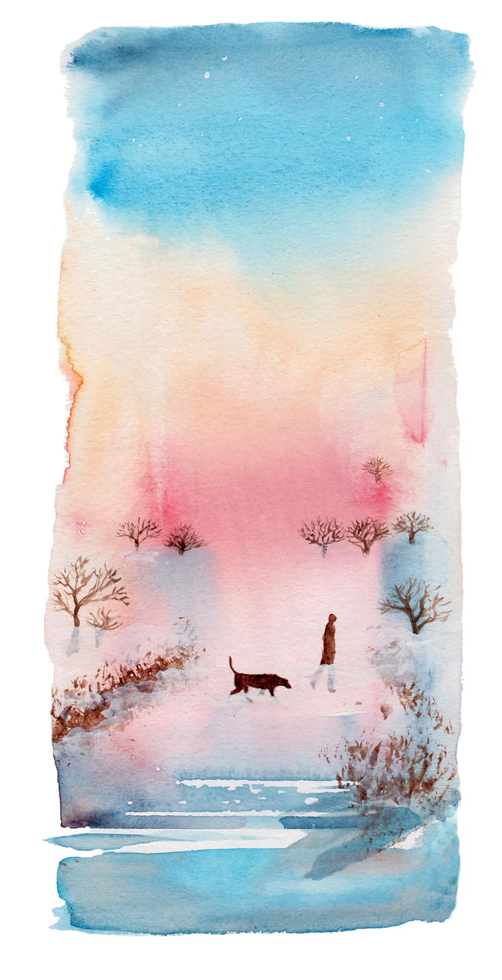 A Dog in the Fog by Emma Burleigh