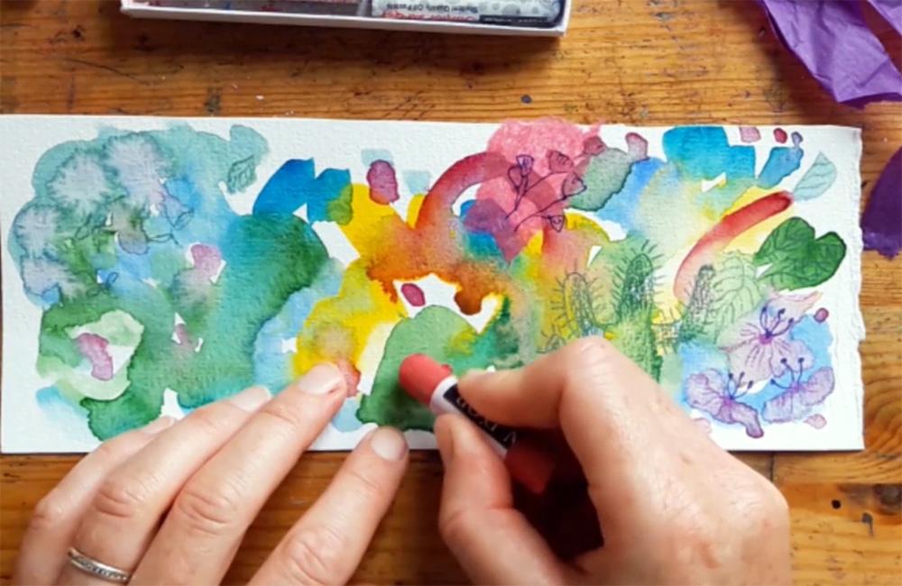 Adding mixed media 3 by Emma Burleigh