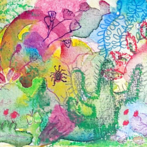 Finished mixed media painting by Emma Burleigh