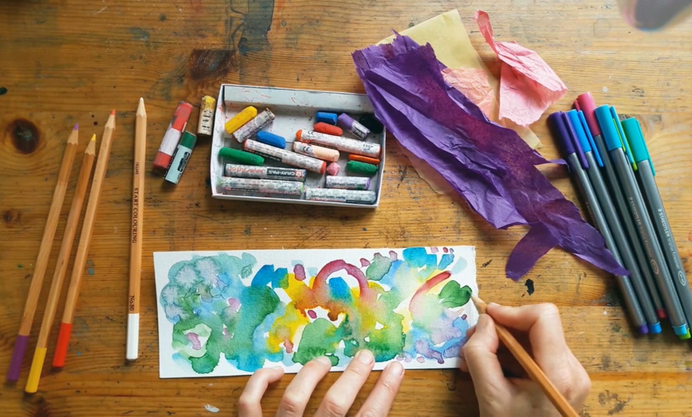 Not so interesting watercolour by Emma Burleigh