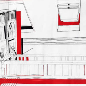 Artist Lorna Rose inspires us to make a drawing of a place or space near us using just straight lines.