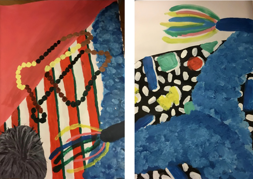 year 7 experiments with paint and form