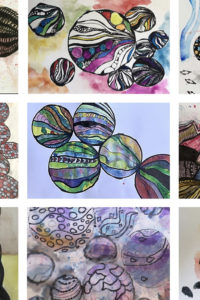 A selection of live work by year 7