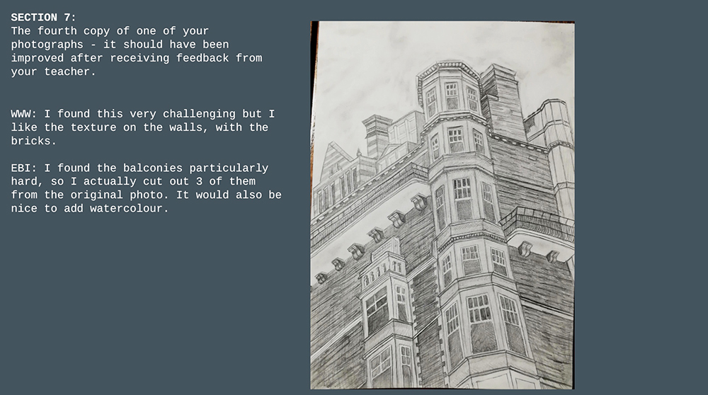 year 9 architectural drawing