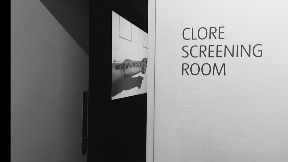 Clore Screening Room entrance by Stephanie Cubbin