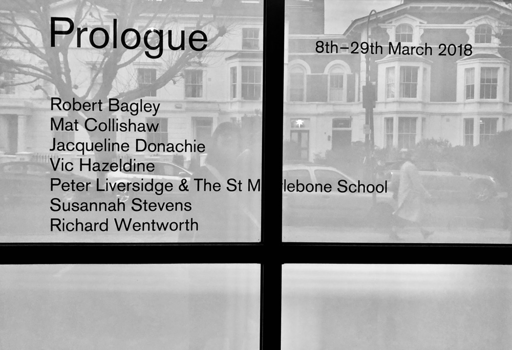 Prologue exhibition entrance by Stephanie Cubbin