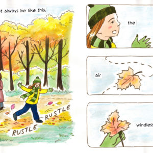 """Finished page 1. Based on the poem """"A Day in Autumn"""" by RS Thomas (c) Elodie Thomas. Art by Irina Richards."""