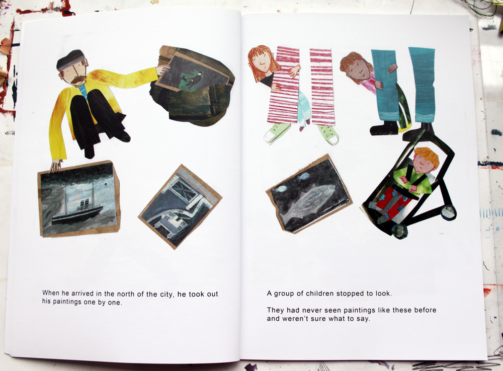 Alfred Wallis book spread by Rose Feather