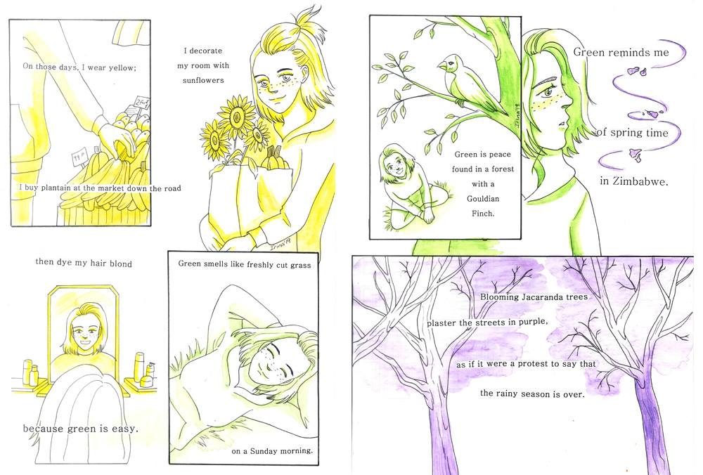 Example of poetry comic by Irina Richards