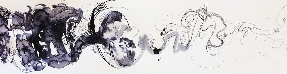 A student's ink work by Stephanie Cubbin