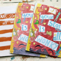 Wonky Story dummy books by Rose Feather