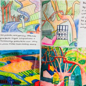 Y9 final artists by Stephanie Cubbin