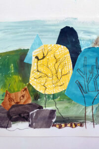 Collage picture of trees by Inbal Leitner