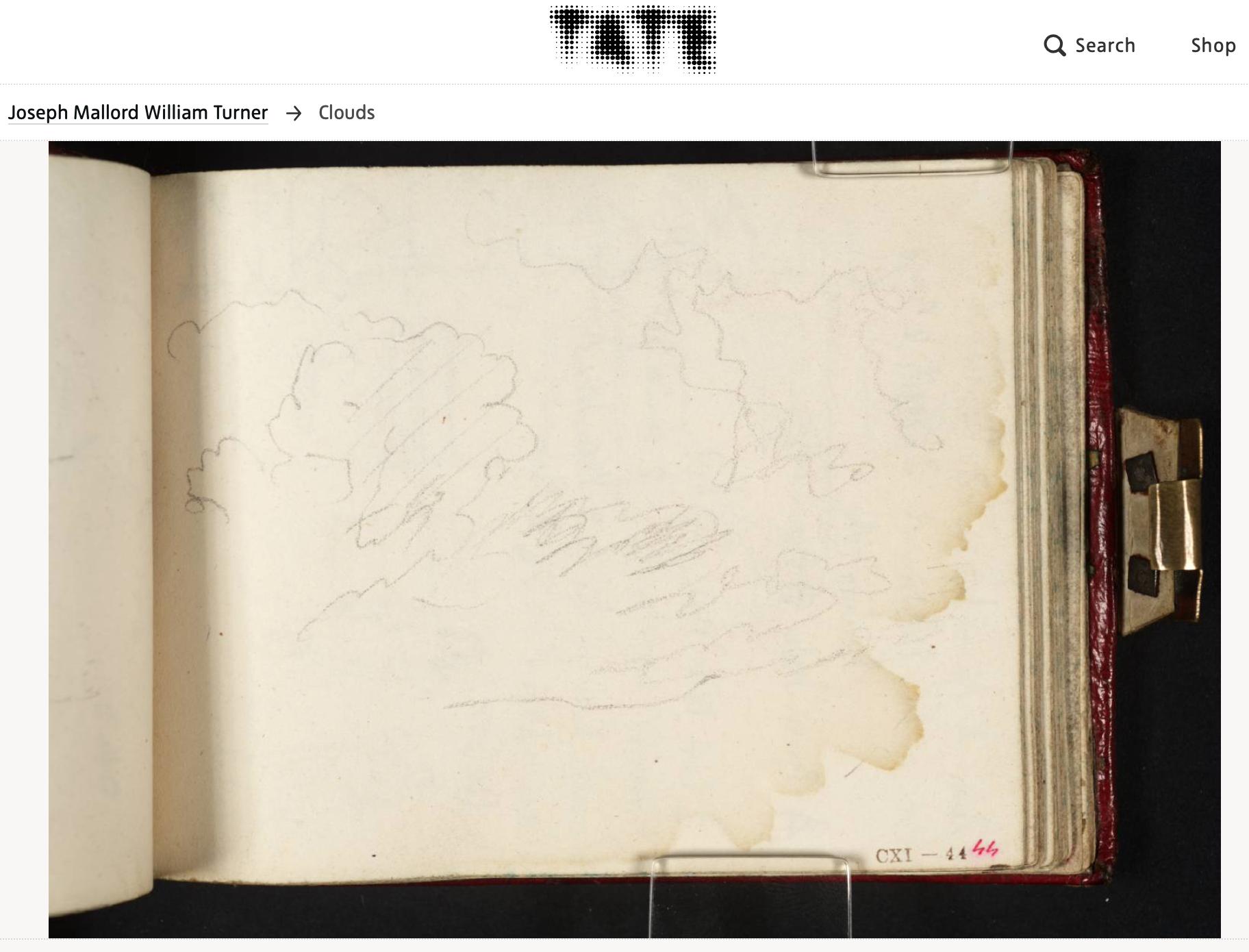 Explore sketchbooks of artists (above: William Turner)