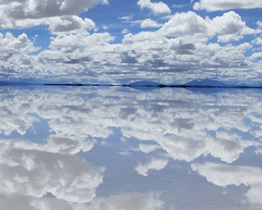 How much do the reflected clouds weigh?