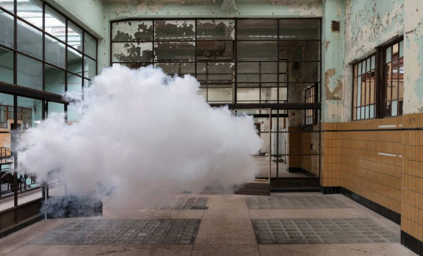 Dutch artist Berndnaut Smilde's sculptures of clouds last 10 seconds or less. How much does the cloud weigh in the photograph? How does the cloud feel in your memory?