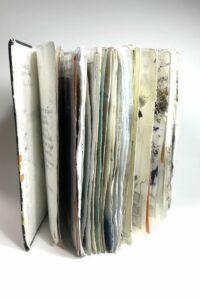 sketchbook mark making and collage
