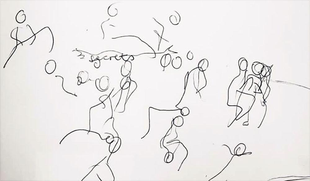 Drawing dancers by Tobi Meuwissen
