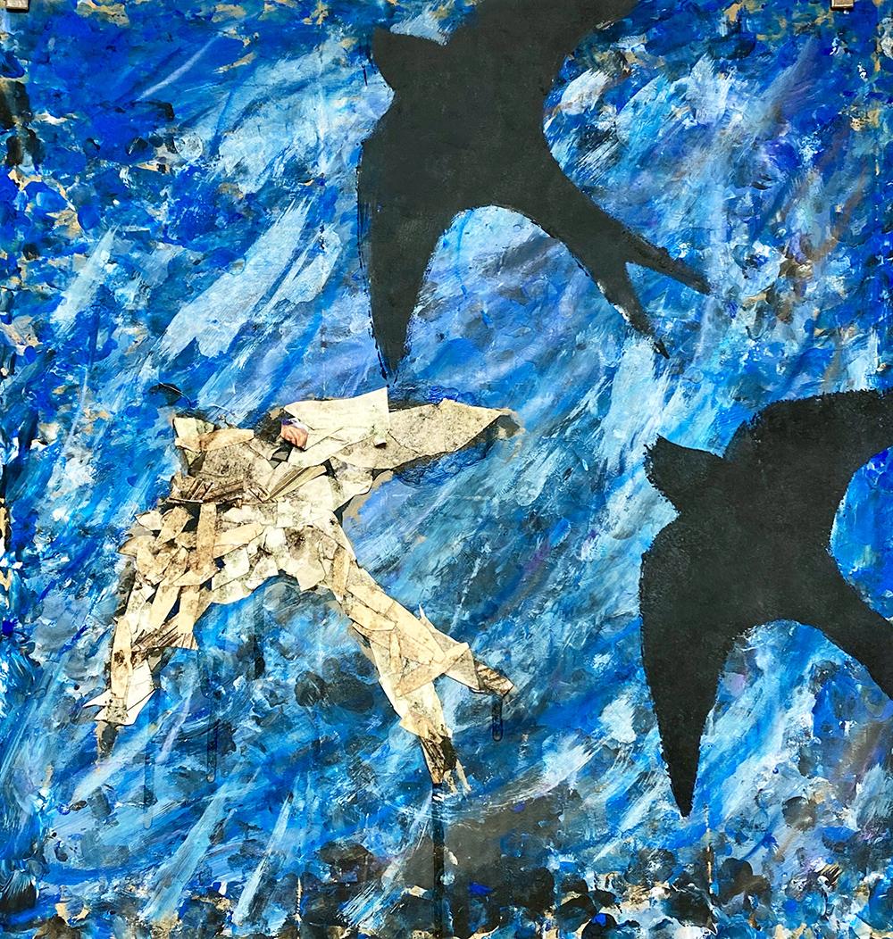 Children's Final Swoop Painting by Rachel Burch