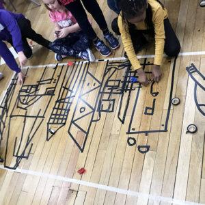 Floor Tape Drawing