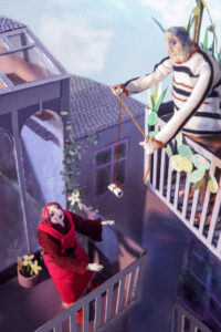 Mr Hoppy and Mrs Silver on their Balconies by Rosie Hurley