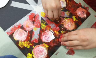 Sponge and Tape Painting