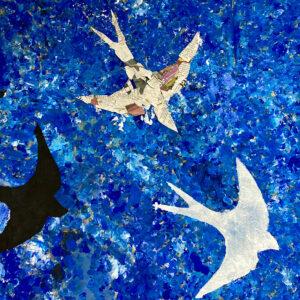 Year 6 Trio of Swallows by Rachel Burch
