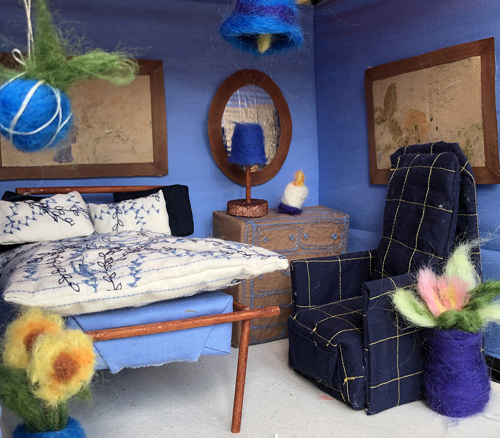 Felted and Embroidered Blue Room by Gabby Dickson